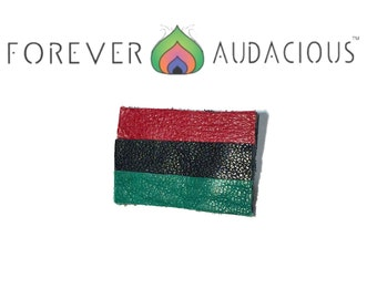 PLEASE READ|| Roots -Pan African Flag ( Genuine Leather Handmade  Pin)  || To Buy - go to www.foreveraudacious.com