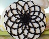 Chignon or Hair Bun Cover in Black - Medium