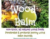 WOOD BALM--LEMON--All Natural for Spinning Wheels Wool Combs & Hackles Drum Carders 2 oz