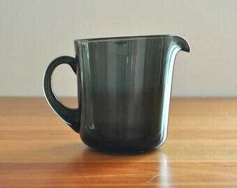 kaj franck for nuutajärvi notsjö smoked glass pitcher