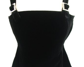 RESERVED for Rylee Inc. Black Velvet Rhinestone Buckle Strap Party Camisole Size 4