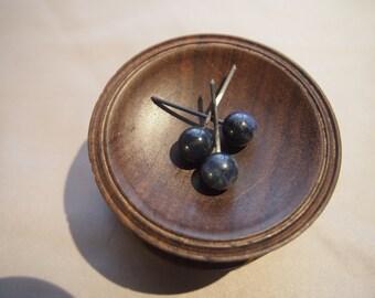 Small Navy dumortierite spheres - lightweight