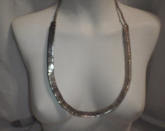 Vintage Statement Necklace  Long Snake Look in Silver Tone for Young Women