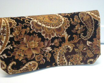 Coupon Organizer Cash Budget Organizer Holder- Attaches to your Shopping Cart - Black and Gold Paisley