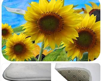 Sunflower Summer bathmat from my art