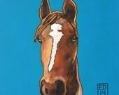 """210 My first pony – print 38x38cm/15x15"""""""