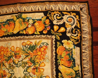 Scarf- Casca Fruit and classic border JUST REDUCED