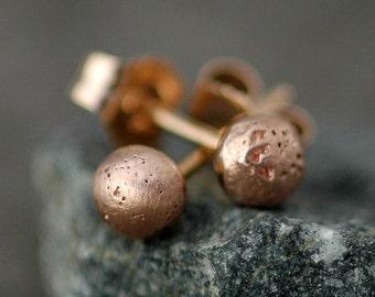 Little Rose Gold Drop Earrings