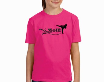 Girls Karate Personalized With Name Shirt Taekwondo