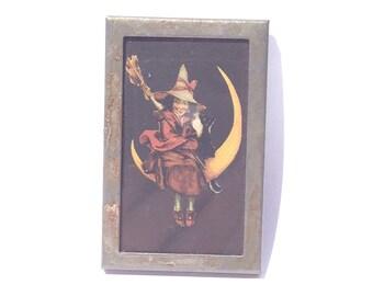 Handmade Witch Magnet Halloween Magnet Halloween Decoration
