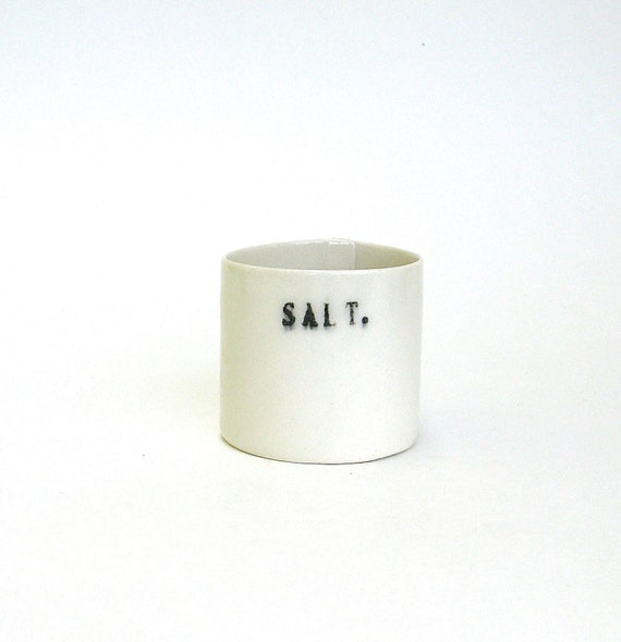 SALE  ...     salt   ...   hand built porcelain vessel   ...  salt cellar