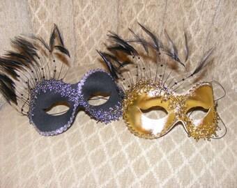 Beautiful Black Glitter Mask