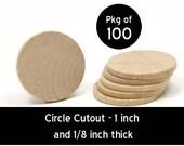 100 - Circle Cutout - 1 x 1/8 inch unfinished wood (WW-JC6210)