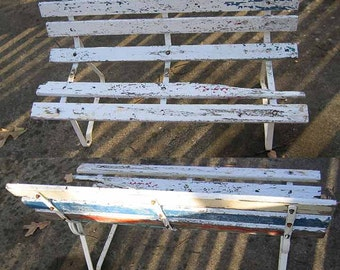 Garden Cottage Style Small Wood Slat Bench