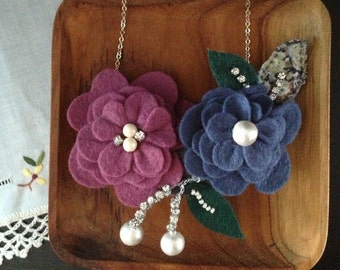 Petals necklace & headpiece (2 ways wear) - BOA3