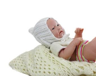 White Elf Pixie Hat - Baby Hat