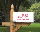 Mail Box Number with Turtle Family Vinyl Decal
