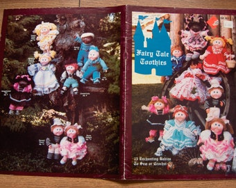 vintage 80s Cabbage Patch BABY TOOTHIE doll clothes sewing crochet Fairy Tale Toothies uncut children toy