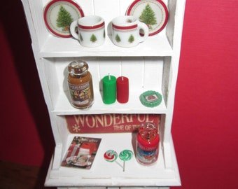 Christmas Candle Hutch