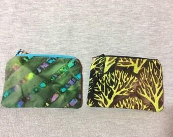 Batik change purses