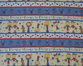 Laura Kelly for Doodle Licensing, Inc. Fabric - Cotton - America the Beautiful - 32in x 43in wide