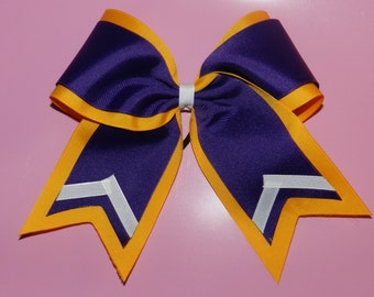 "3"" Texas Size Cheer bow - double layer - trimed ends -  squad discounts"