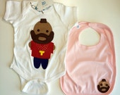 Looks Like Mr. Tee... Infant Bodysuit and PINK Bib Combo