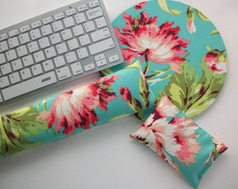 mouse pad wrist rest Keyboard rest set  - Pick your own pattern - mousepad set coworker gift - graduation office Desk Accessories