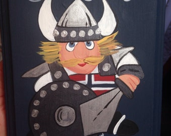 Norwegian Viking Wooden Plaque Sign