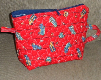 QUILTED BIZZEEE BAG 4 Tots/Zippered Totes 2 Take Along Toys/Makes great Baby Shower Gift/Toy Bags 4 Children/Keep Busy Bags 4 Children