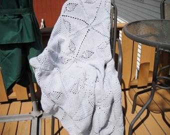 Wedding Sale Dorm Decor Bedding Sale Large Light Gray Grey Blanket Afghan Large size