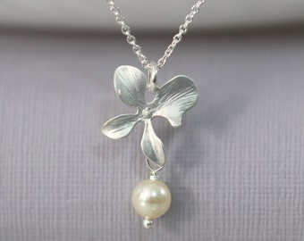 Flower Girl Necklace, Orchid Necklace, Flower Girl Jewelry, Orchid Necklace, Flower Girl Necklace, Flower Girl Gift, Gift for Her