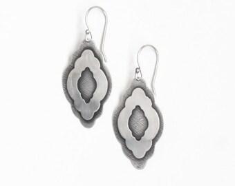 "ON SALE this week - Sterling silver boho chic earrings handmade of cloud shapes, a trendy bohemian style jewelry design - ""Billow Earrings"""