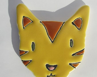 "3 x 3 x 1/4"" inch Cat magnet with gift box"