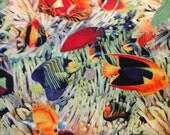 Private Listing for divejason On Sale Shamash Brightly colored Tropical Fish 100% Cotton Fabric 3yd Novelty