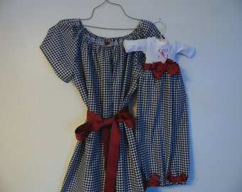 Boutique Alabama Roll Tide Mommie and Baby infant gown set Perfect for that true Alabama Fan