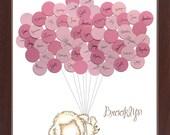 Sheep Lamb Theme Baby Shower Guestbook Print - Girl