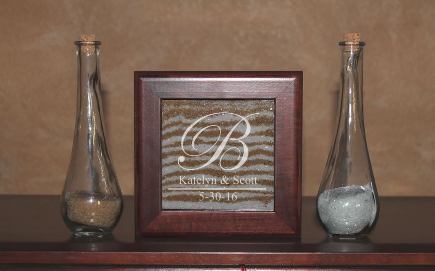 Unity Sand Ceremony Frame Set Shadow Box With Engraving
