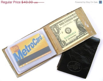 CLEARANCE SALE 50% OFF Credit Card Wallet, Credit Card Holder, Metro Card Case, Gift For Him, Gift For Her - in Cappuccino Brown (No. 494)
