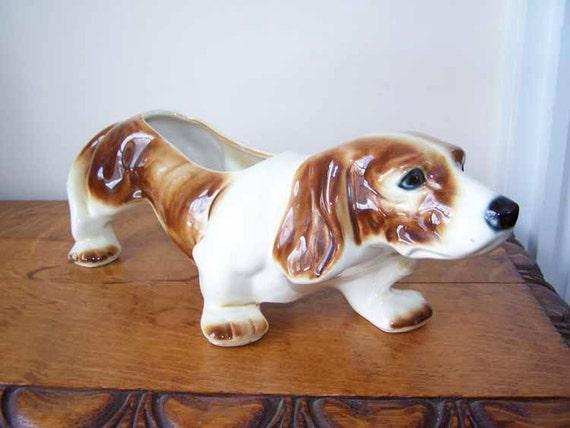 Pottery Beagle Basset Hound Spaniel Mccoy Pottery 218 C