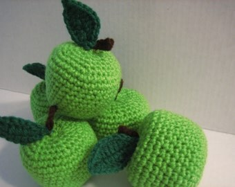 Little Green Apples for any Holiday Decor and Garland - Fill your garden Baskets - Fall/Winter - Back to School
