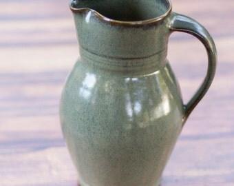 Slate Gray Pitcher- stoneware,handmade pitcher, handthrown