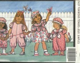 Busybodies 5347   Size 1-2-3   Toddlers/Children's Dress, Jumpsuit & Hat.    1990's Sewing Pattern