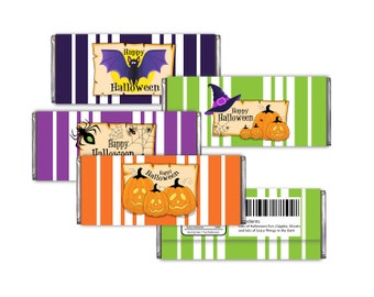 Halloween Candy Bar Wrappers Printable -DIY Digital