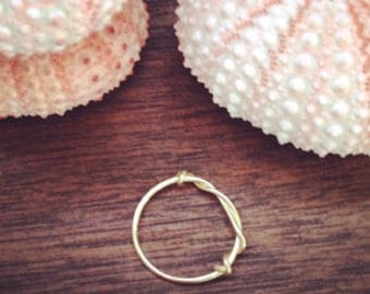 Gold Midi Ring. Gold Filled & Wire wrapped. Pile them on. Stack em up!