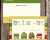 SALE. Digital Printable Moving Announcement - Home Sweet Home - DIY. Moving Card. Sweet Moving Announcement.  Printable. Digital. Pdf. Jpg.