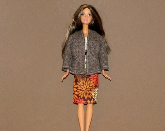 B3PC-76 ) Barbie 3 pc classy outfit