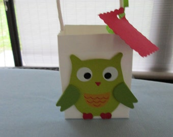 owl favor bags, owl party bags, baby shower favor bags,