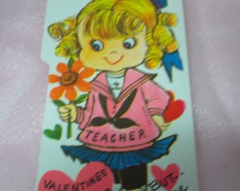 """Vintage 1970's """"Valentines May Be Old Fashioned, But Please Be Mine"""" Juvenile Valentine's Day Card #2"""