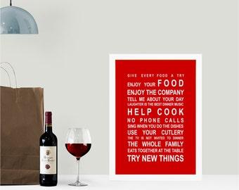 Kitchen Rules print